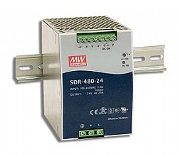 SDR-480 Series 480W High Efficiency Slim DIN Rail Power Supply