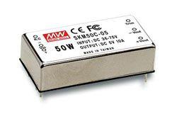 New SKM50 Series 50W Miniature Regulated DC-DC Converter