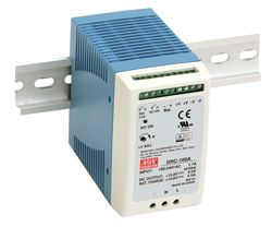 DRC-100 Series – 100W DIN Rail Type Security Power (with additional charger output)
