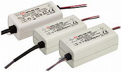 APV and APC 8W 12W 16W E-Type MEAN WELL LED Power Supply