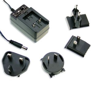 12W~18W AC-DC Interchangeable Plugtop AC Adapter