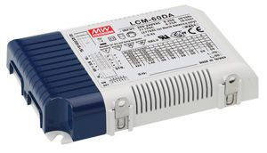 60W Multiple Stage Output Current LED Power Supply with built-in DALI interface