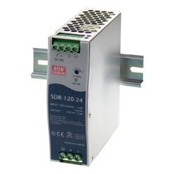 120W Single Output Din Rail Power Supply with PFC Function