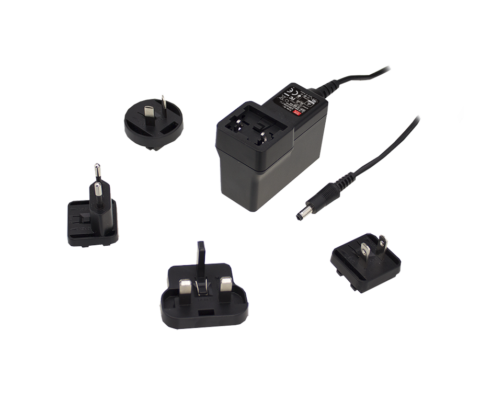 GEM40I Series 40W AC-DC High Reliability Interchangeable Medical Power Adaptor