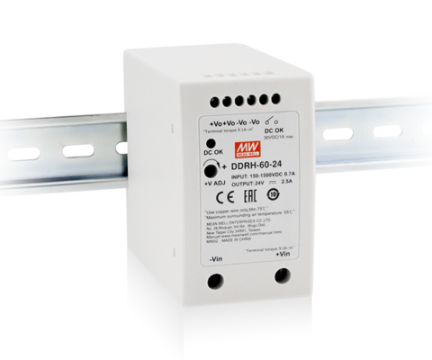 DDRH-60-5 5V 50W Ultra wide input DIN Rail DC-DC Converter