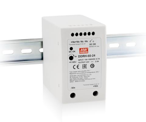 DDRH-60-48 60W Ultra wide input DIN rail type DC-DC Converter