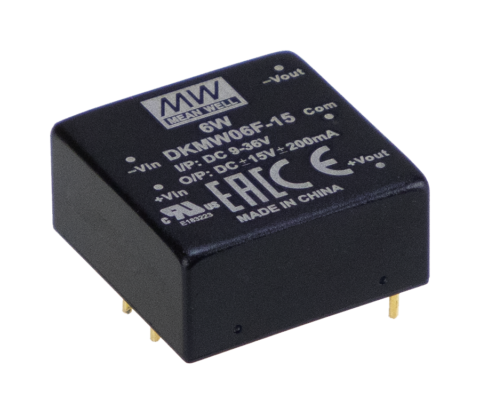 DKMW06F-15 -15V, 15V 6W Dual Output Regulated DC-DC Converter