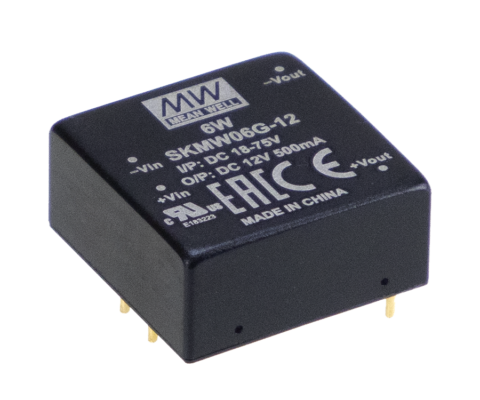 SKMW06G-12 12V 6W Single Output Regulated DC-DC Converter