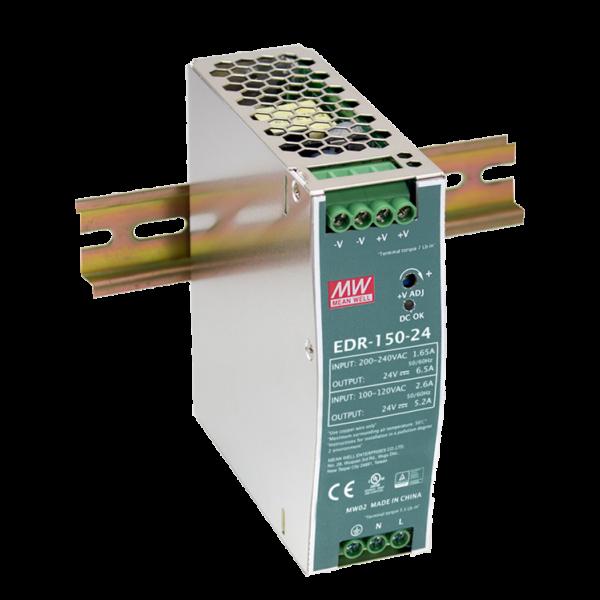 EDR-150-24 24V 6.5A 156W Industrial Din Rail Power Supply