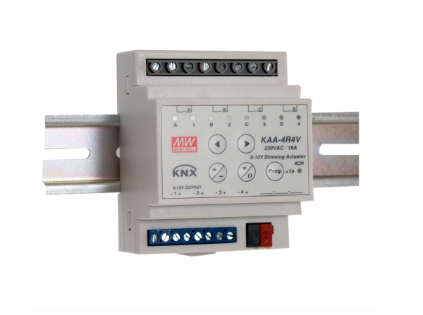 KAA-4R4V KNX 4 Channel Dimming Actuator