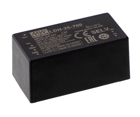 LDH-25 Series 25W DC-DC Step-Up Constant Current LED driver