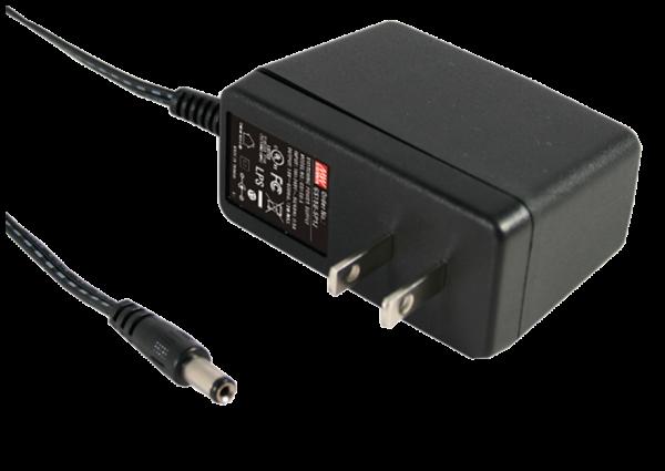 GS15U-1P1J 15W 5V AC-DC  Industrial Adaptor – US 2 Pin AC Plug