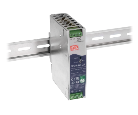 WDR-60 Series – 60W Ultra Wide Input Industrial DIN Rail Power Supply