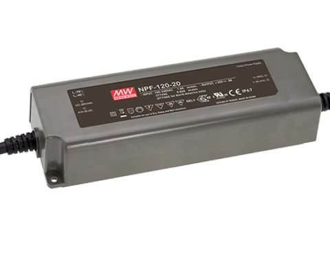 NPF-120 Series IP67 120W Constant Voltage + Constant Current LED Driver