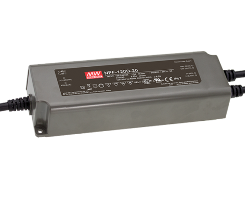 NPF-120D Series IP67 120W Single Output LED Driver with 3 in 1 dimming